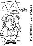 a cartoon ben franklin with a...   Shutterstock .eps vector #229192261