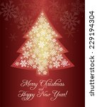 illustration of christmas tree... | Shutterstock .eps vector #229194304
