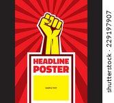 hand up proletarian revolution  ... | Shutterstock .eps vector #229197907