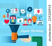 digital marketing concept in... | Shutterstock .eps vector #229200919