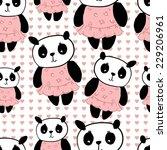 panda cute pattern | Shutterstock .eps vector #229206961