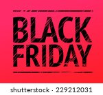 black friday red sign | Shutterstock .eps vector #229212031