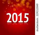 2015 red vector card | Shutterstock .eps vector #229212049