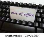 an out of office note on a...   Shutterstock . vector #22921657