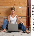 girl woman laptop | Shutterstock . vector #2292169
