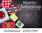 christmas presents grouped... | Shutterstock . vector #229217299