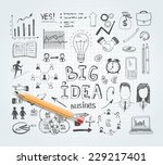 vector business idea doodles... | Shutterstock .eps vector #229217401