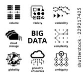 big data icons. volume variety... | Shutterstock .eps vector #229217425