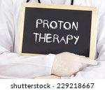 doctor shows information ...   Shutterstock . vector #229218667