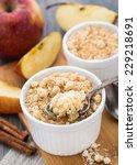apple crumble dessert | Shutterstock . vector #229218691