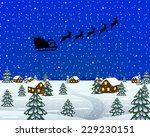 evening landscape at christmas | Shutterstock .eps vector #229230151