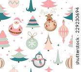 seamless christmas pattern. eps ... | Shutterstock .eps vector #229230694