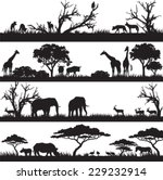 four panels of african... | Shutterstock .eps vector #229232914