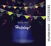 festive flags  vector. | Shutterstock .eps vector #229233181