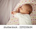 Cute Newborn Baby Girl Sleeping ...