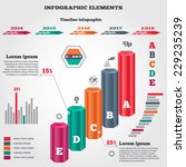 infographics elements. 3d... | Shutterstock .eps vector #229235239