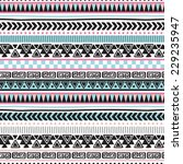colorful aztec vintage pattern... | Shutterstock .eps vector #229235947