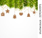 christmas background | Shutterstock .eps vector #229243591
