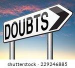 doubts doubting being uncertain ... | Shutterstock . vector #229246885