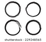 grunge circles .vector... | Shutterstock .eps vector #229248565
