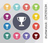 winner cup circle  flat icons... | Shutterstock . vector #229250134