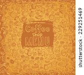 hand drawn coffee and... | Shutterstock .eps vector #229251469