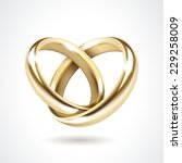 gold wedding rings isolated | Shutterstock . vector #229258009