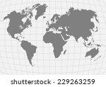 planet earth with continents | Shutterstock . vector #229263259