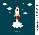 quick start up flat concept...   Shutterstock .eps vector #229268191