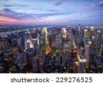 new york sunset skyline taken... | Shutterstock . vector #229276525