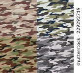seamless camouflage pattern | Shutterstock .eps vector #229292719