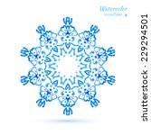 watercolor blue circular...   Shutterstock .eps vector #229294501