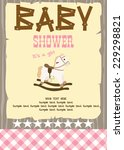 western baby shower | Shutterstock .eps vector #229298821