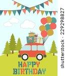 happy birthday | Shutterstock .eps vector #229298827