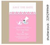 wedding invitation. vector | Shutterstock .eps vector #229299949