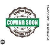 coming soon word on label and... | Shutterstock .eps vector #229300981
