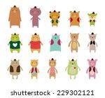 cute bear vector | Shutterstock .eps vector #229302121