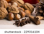 different kinds of spices  nuts ... | Shutterstock . vector #229316104