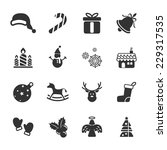 christmas icon set  vector... | Shutterstock .eps vector #229317535
