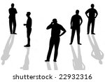 silhouettes of several man | Shutterstock . vector #22932316