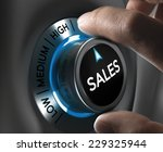 Sales button pointing the...