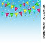 multicolored bright buntings... | Shutterstock .eps vector #229326085