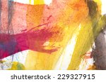 abstract colorful watercolors... | Shutterstock . vector #229327915