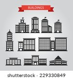 set of flat design buildings... | Shutterstock . vector #229330849