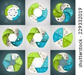 Vector Circle Arrows Ribbons...