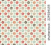 seamless pattern with colorful... | Shutterstock .eps vector #229334155