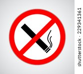 don't smoke sign. vector... | Shutterstock .eps vector #229341361