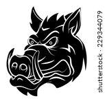 wild boar | Shutterstock .eps vector #229344079