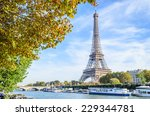 a view of a seine river with... | Shutterstock . vector #229344781