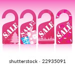 pink christmas vector sale tag... | Shutterstock .eps vector #22935091